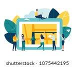 vector illustration on white... | Shutterstock .eps vector #1075442195