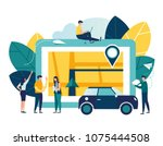 vector illustration flat on... | Shutterstock .eps vector #1075444508