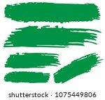 set of hand painted organic... | Shutterstock .eps vector #1075449806
