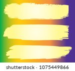 collection of hand drawn orange ... | Shutterstock .eps vector #1075449866