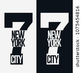 new york city sport wear... | Shutterstock .eps vector #1075454816