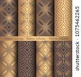 luxury seamless patterns... | Shutterstock .eps vector #1075462265