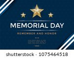 memorial day cover template... | Shutterstock .eps vector #1075464518