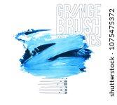 blue brush stroke and texture.... | Shutterstock .eps vector #1075475372