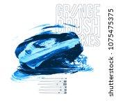 blue brush stroke and texture....   Shutterstock .eps vector #1075475375