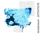 blue brush stroke and texture....   Shutterstock .eps vector #1075475378