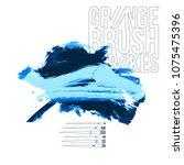 blue brush stroke and texture.... | Shutterstock .eps vector #1075475396