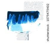 blue brush stroke and texture.... | Shutterstock .eps vector #1075475402