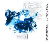 blue brush stroke and texture.... | Shutterstock .eps vector #1075475432