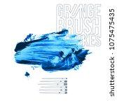 blue brush stroke and texture.... | Shutterstock .eps vector #1075475435