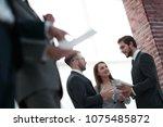 business people meeting in... | Shutterstock . vector #1075485872