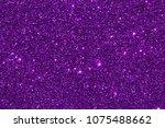 close up purple violet glitter...   Shutterstock . vector #1075488662