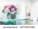 reception interior with... | Shutterstock . vector #1075491482