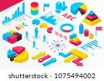 isometric infographics.... | Shutterstock .eps vector #1075494002