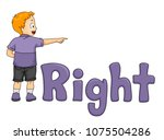 illustration of a kid boy... | Shutterstock .eps vector #1075504286