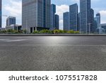 empty road with modern business ... | Shutterstock . vector #1075517828