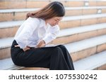 asian businesswomen was sick... | Shutterstock . vector #1075530242