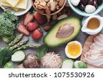 keto  ketogenic diet  low carb  ...   Shutterstock . vector #1075530926