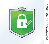 security shield illustration... | Shutterstock .eps vector #1075531532