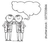 twins businessmen speaking | Shutterstock .eps vector #107553866