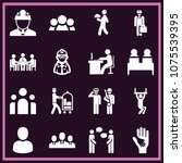 set of 16 people filled icons...   Shutterstock .eps vector #1075539395