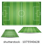 set of top and side view of... | Shutterstock .eps vector #1075540628