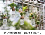 diy old empty bottles can be... | Shutterstock . vector #1075540742