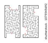 a set of two rectangular... | Shutterstock .eps vector #1075545692