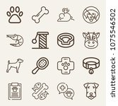 animals outline vector icon set ... | Shutterstock .eps vector #1075546502