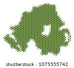 halftone circle northern... | Shutterstock .eps vector #1075555742