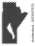 halftone dot manitoba province... | Shutterstock .eps vector #1075557572