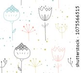 vector seamless pattern in... | Shutterstock .eps vector #1075566515