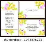romantic invitation. wedding ... | Shutterstock . vector #1075576238
