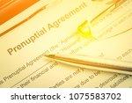 family law  prenuptial... | Shutterstock . vector #1075583702