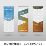 roll up banner template and... | Shutterstock .eps vector #1075591436