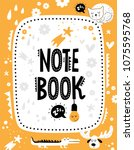 vector note book cover with... | Shutterstock .eps vector #1075595768