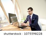portrait of young businessman... | Shutterstock . vector #1075598228