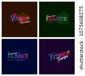 tourism france typography logo...   Shutterstock .eps vector #1075608275