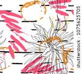 tropical  stripe  animal motif. ...   Shutterstock .eps vector #1075625705