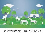 eco earth day and world... | Shutterstock .eps vector #1075626425