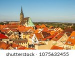 view over the rooftops of... | Shutterstock . vector #1075632455