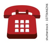 vintage telephone symbol | Shutterstock .eps vector #1075646246
