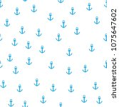 sea anchor. seamless pattern on ...   Shutterstock .eps vector #1075647602