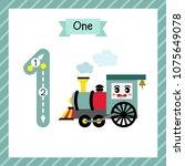 cute children flashcard number... | Shutterstock .eps vector #1075649078