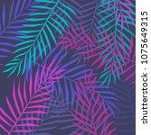 illustration of tropical leaves | Shutterstock .eps vector #1075649315