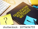 qualitative research methods... | Shutterstock . vector #1075656755