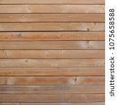 wood plank wall texture... | Shutterstock . vector #1075658588