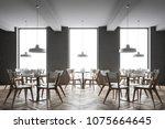 interior of a gray brick loft...   Shutterstock . vector #1075664645