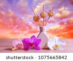 air freshener with orchid... | Shutterstock . vector #1075665842