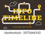 info timeline business concept... | Shutterstock .eps vector #1075666142